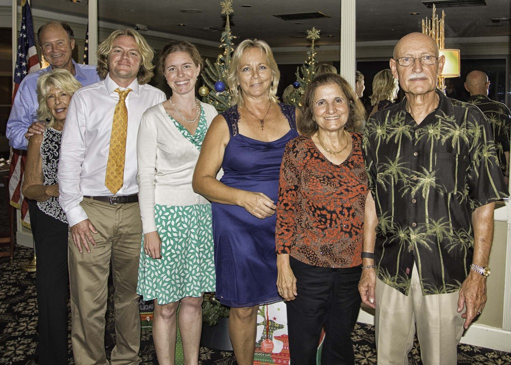 Club Officers and their wives (L-R) Roger and Sandra Grogman, Toby and Cheryl Clark, Debi Almeida, Kurt and Nilou Peters
