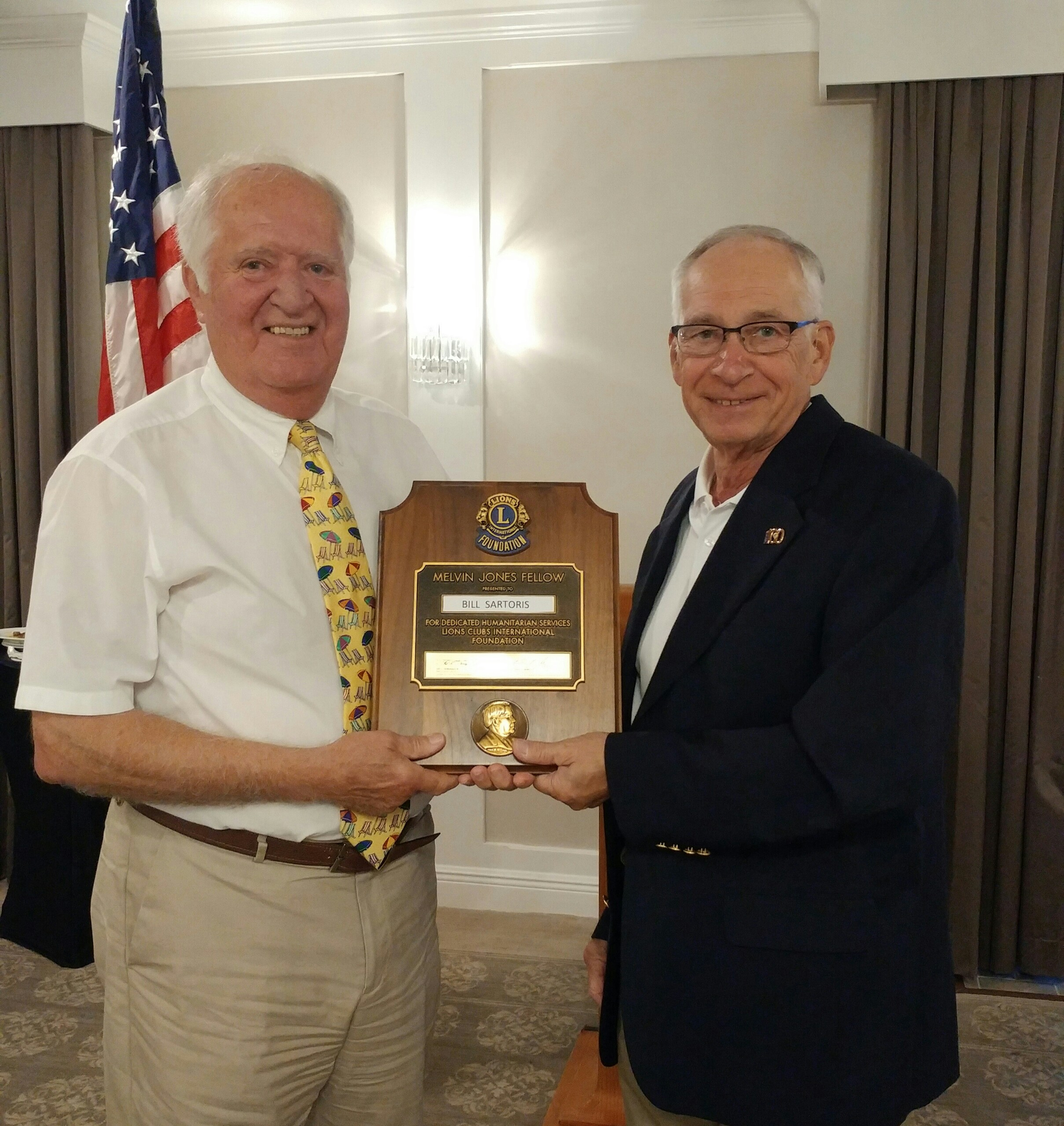 Club Officers Installed Melvin Jones Award Presented