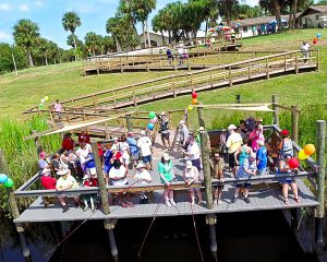 Happy Campers Enjoy New Fishing pier