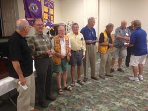 Sanibel-Captiva Lions Club years of service award presentation