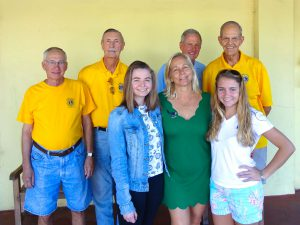 Sanibel Captiva Lions, back row from left: Bill Sartoris, Jim Graham, David Stigler, and Bill Sadd. Front row from left Francis Bailey Lions Scholarship winner Andrea Berrain, Lions President Debi Almeida, and scholarship winner Lauren Lockard.