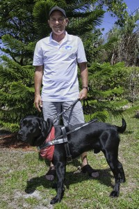 Sanibel-Captiva Lion Tommy Gray and new GuideDog, Larry